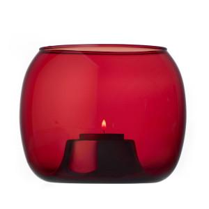 Brusinkove cerveny svicen na cajovou svicku Kaasa_design Iittala_cena 2490 Kc_DesignVille