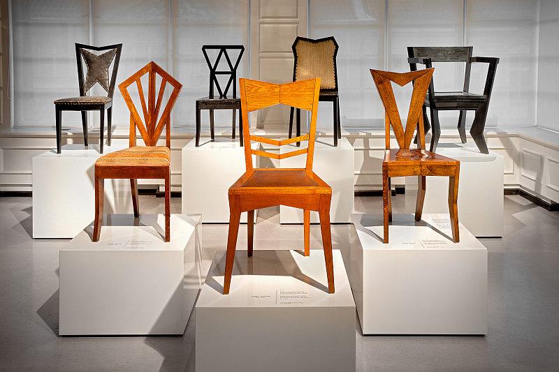 Český kubismus: židle Foto: UPM, oficiální zdroj