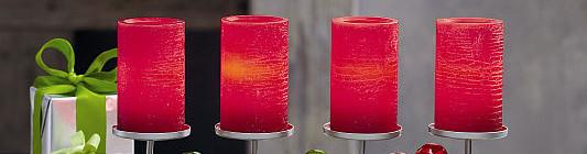 Jednoduchý svícen jako varianta klasického adventního svícnu Foto: PartyLite