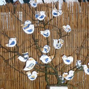 Vánoční výstava - Jiřina Sobíšková - Ptáčci na kolíčkách