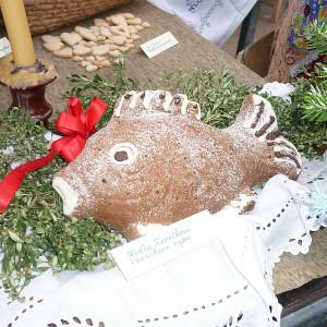 Vánoční výstava -Květa Korečková - Perníková ryba