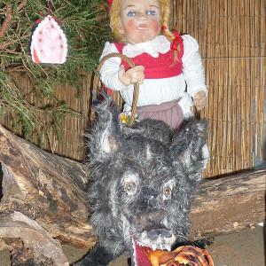 Vánoční výstava - Lošťáková - Karkulka a vlk