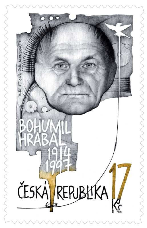 M.Richterová, Miloš Ondráček: BOHUMIL HRABAL Česká pošta,  2013 Foto: ArtForum, oficiální zdroj