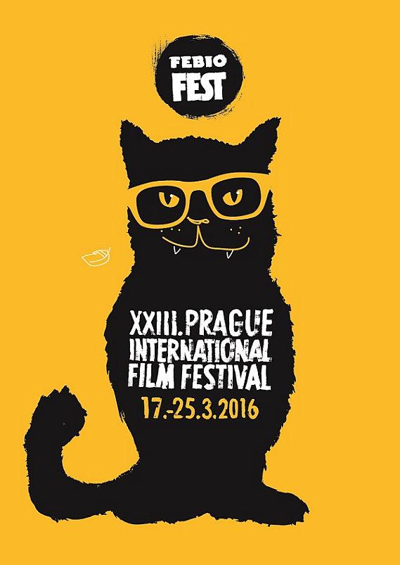Maskot letošního Febiofestu -kocour Foto: MFF Praha – Febiofest, oficiální zdroj