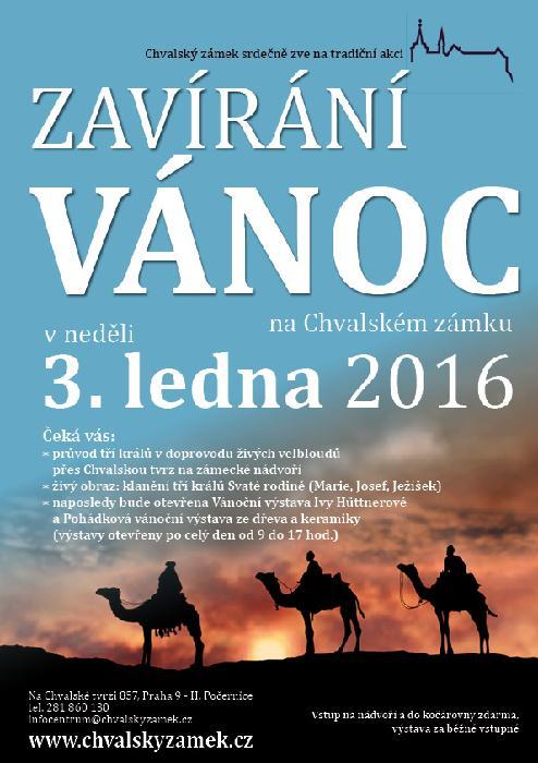 Zavírání Vánoc - plakát Oficiální zdroj: Chvalský zámek