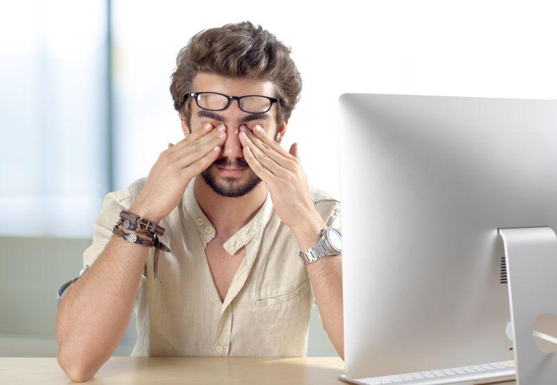 Práce u počítače může ohrozit zrak Foto: Guideline, oficiální zdroj