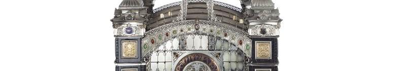 Stříbrné hodiny v podobě Průmyslového paláce Foto: UPM, oficiální zdroj