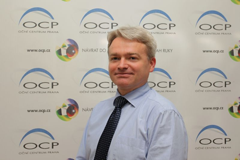 MUDr. Radan Zugar, primář kliniky OCP Foto: Oční centrum Praha, oficiální zdroj
