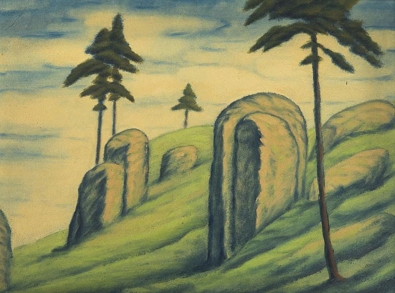 František Drtikol - Krajina se skalami Foto: archiv Dorotheum, oficiální zdroj