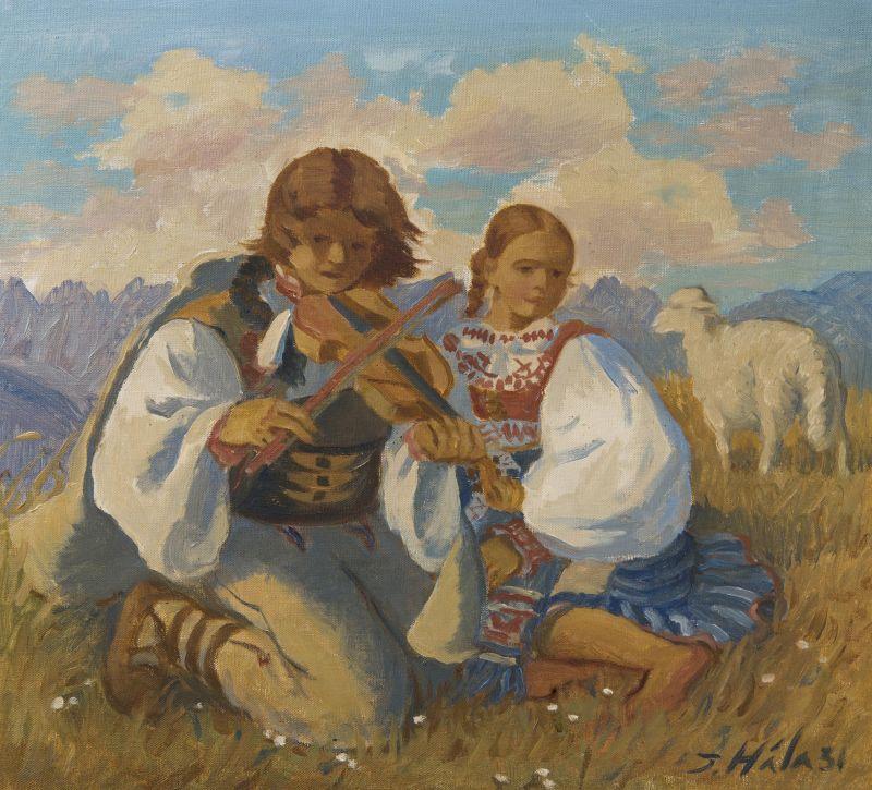 Jan Hála - Pasáčci, signováno a datováno vpravo dole J. Hála 31, olej/plátno, 55 x 60 cm Foto: archiv Dorotheum, oficiální zdroj