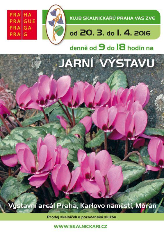 Jarní výstava skalniček: plakát Oficiální zdroj: KSP