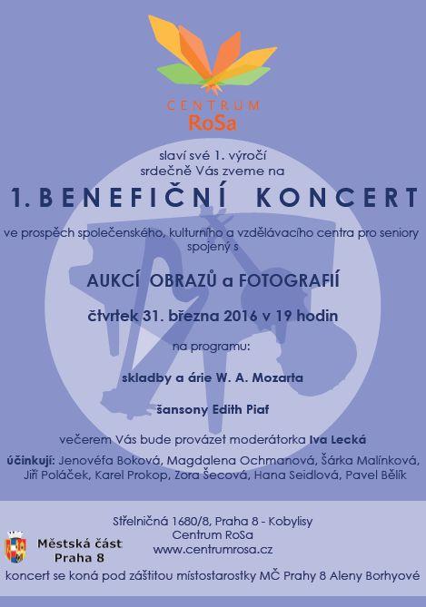 Benefiční koncert Rosa - plakát Oficiální zdroj: RoSa