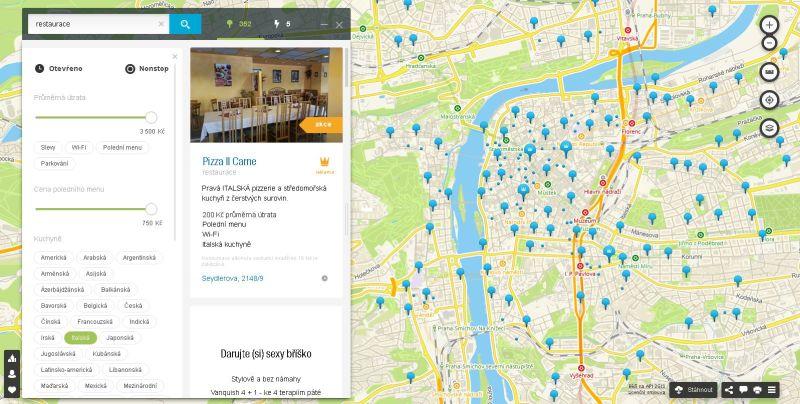 2GIS: Zobrazení výběru restaurace Oficiální zdroj: 2GIS