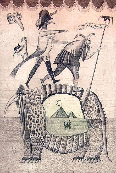 Adolf Born: CESTA DO 21. STOLETÍ, 1993, 49 x 33 cm, lept Foto: ArtForum, oficiální zdroj