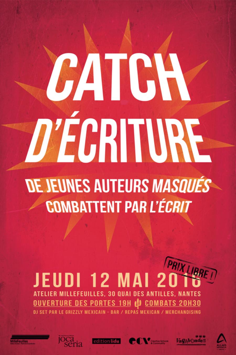 Oficiální plakát CATCH D'ÉCRITURE, zdroj: edition lidu