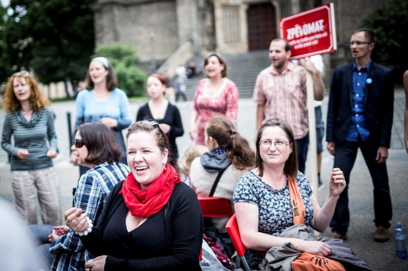 Zpěvomat v ulicích, ilustrační foto z minulého ročníku Foto: Zpěvomat, oficiální zdroj
