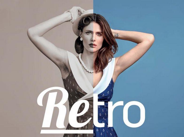 Národní muzeum: Výstava Retro: plakát a na něm  Šaty Debra kostkované se širokou kolovou sukní ušité podle originálního střihu z 50. let, hedvábný dupion, 2015 Foto: NM, oficiální zdroj