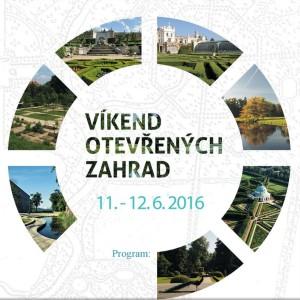Víkend otevřených zahrad plakát Oficiální zdroj: VOZ
