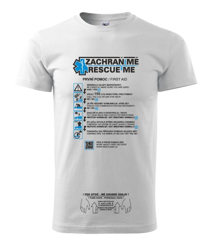 RescueMe: tričko s pokyny první pomoci, které vám může zachránit život Foto: RescueMe, oficiální zdroj
