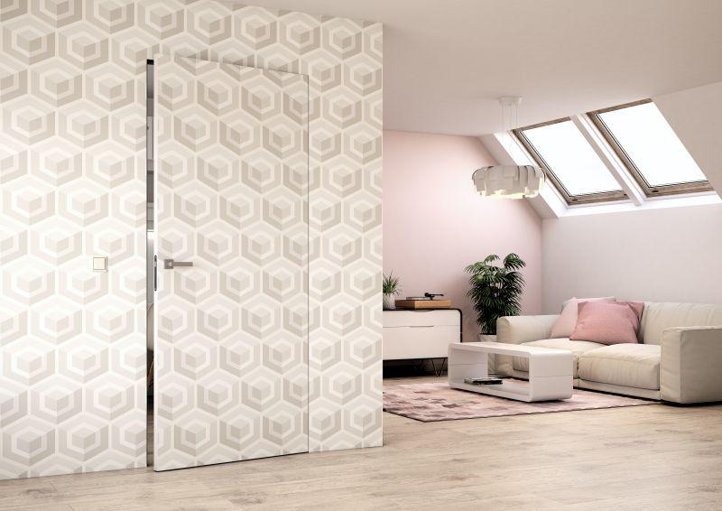 Dveře SAPELI Elegant, povrch Karton - tapeta, skryté zárubně Foto: SAPELI, oficiální zdroj
