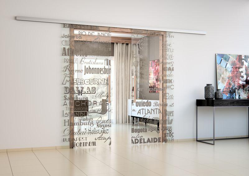 Celoskleněné dveře SAPELI z programu Sapglass s digitálním potiskem Foto: SAPELI, oficiální zdroj