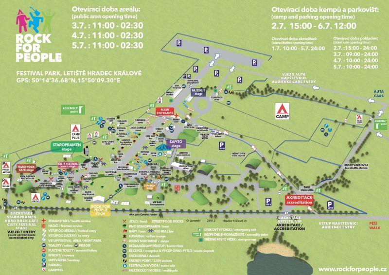 Rock for People: mapa  Oficiální zdroj RFP
