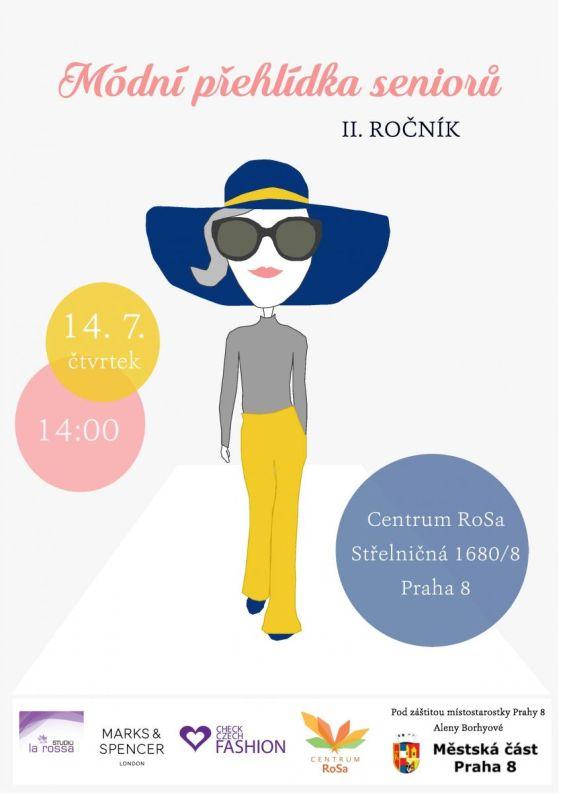 II. přehlídka módní přehlídka seniorů - plakát Oficiální zdroj: RoSa