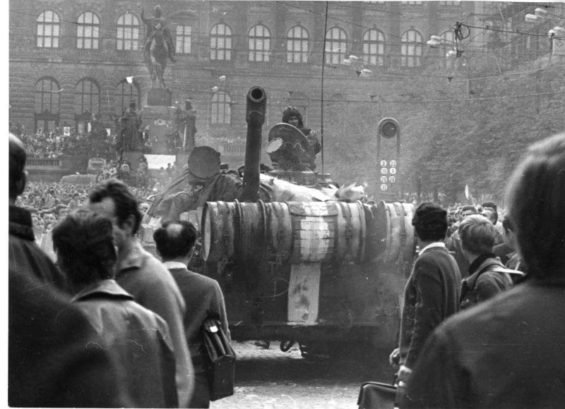 Sovětská okupace v srpnu 168: Historická budova Národního muzea Foto: Kříž/NM, oficiální zdroj