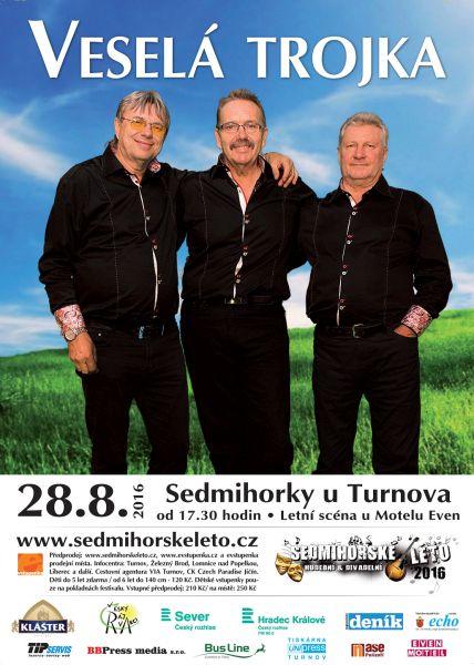 Veselá Trojka - plakát Oficiální zdroj: Sedmihorské léto