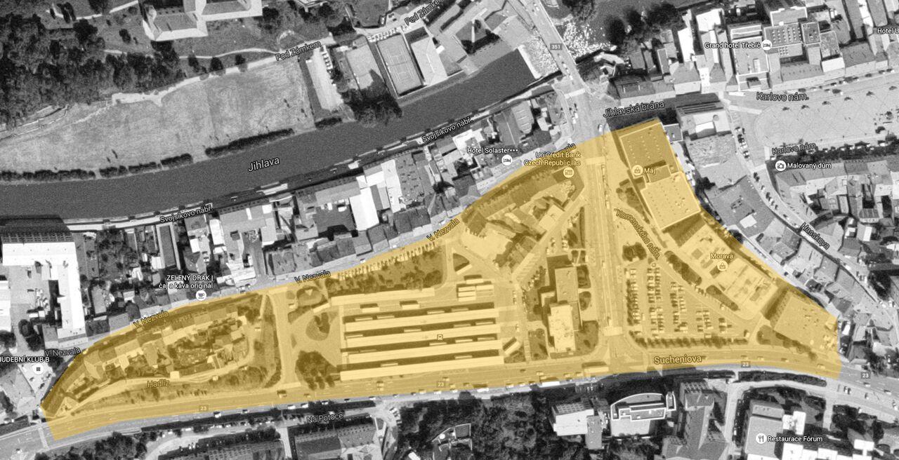 Den architektury: Třebíč, letecký pohled čb Foto: Kruh, oficiální zdroj