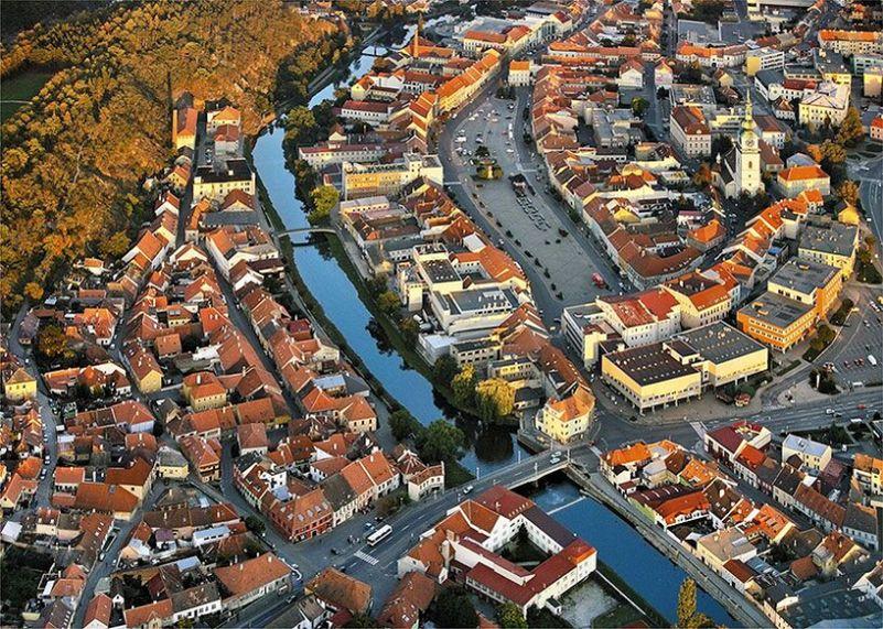 Den architektury 2016: Třebíč - letecký pohled Foto: Kruh, oficiální zdroj