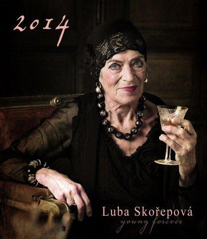 Luba Skořepová v kalendáři na rok 2014 Foto: Alena Hrbková/ Klobouk film, oficiální zdroj
