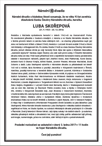 Luba Skořepová - parte Oficiální zdroj: Kloboukfilm