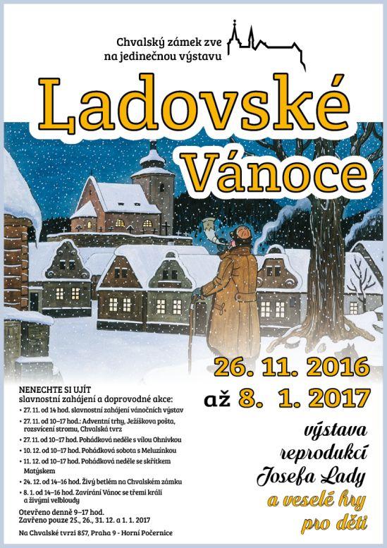 Ladovdké Vánoce plakát Oficiální zdroj: Chvalský zámek