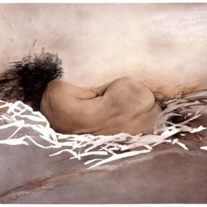 Ladislav Kuklík - Hnízdo, pastel 2003, 54 x 82 cm Foto: ArtForum, oficiální zdroj
