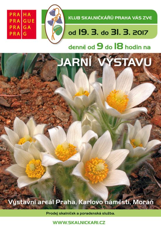 Jarní výstava skalniček - plakát Oficiální zdroj: KSP