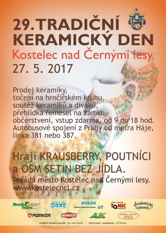 29. Tradiční keramický den - plakát Oficiální zdroj: Kostelec nd Černými lesy