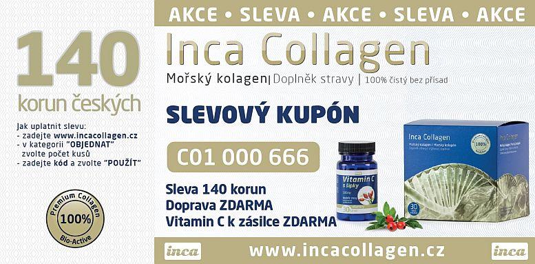 Inca Collagen, aktuální akce - slevový kód Foto: Inca Collagen, oficiální zdroj