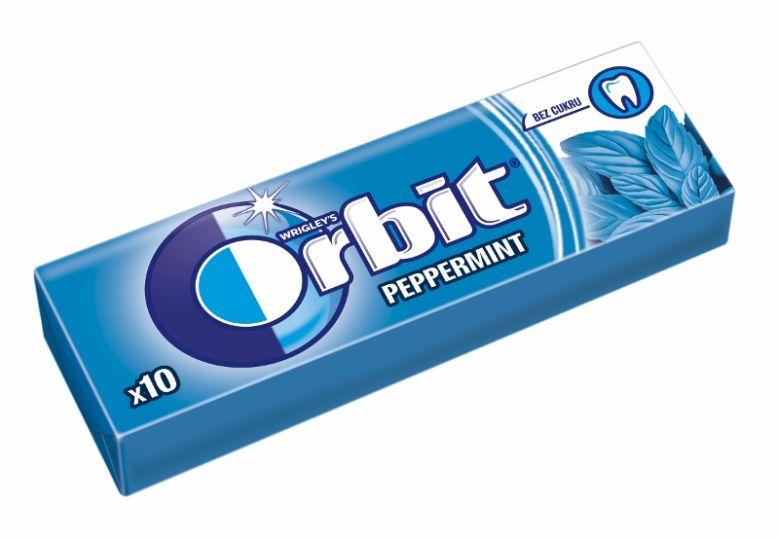 Žvýkačky Orbit Peppermint Foto: Orbit, oficiální zdroj