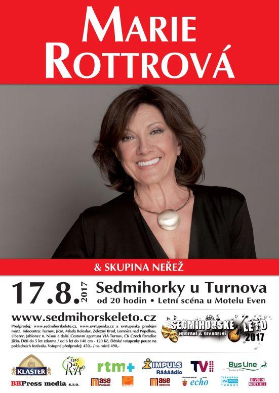 Sedmihorské léto 2017: Marie Rottrová  Neřež - plakát Oficiální zdroj: Sedmihorské léto