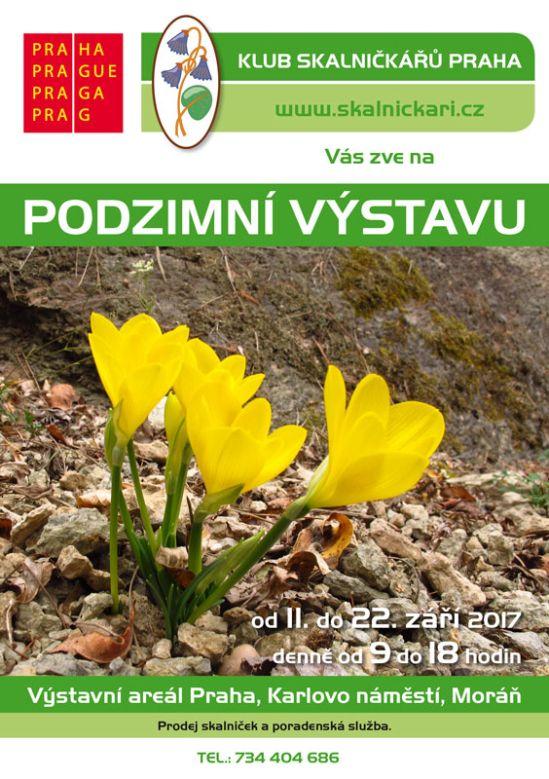 Podzimní výstava skalniček 2017 - plakát Oficiální zdroj: KSP