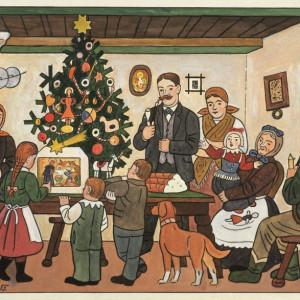 U vánočního stromku_1955
