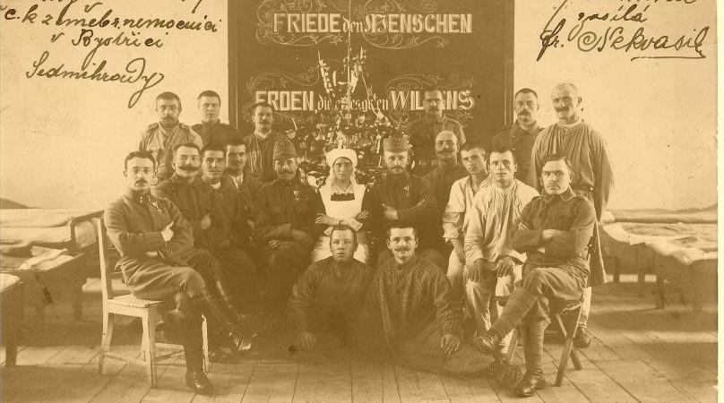 Vánoční přání 1917 Zdroj: e-Newspeak