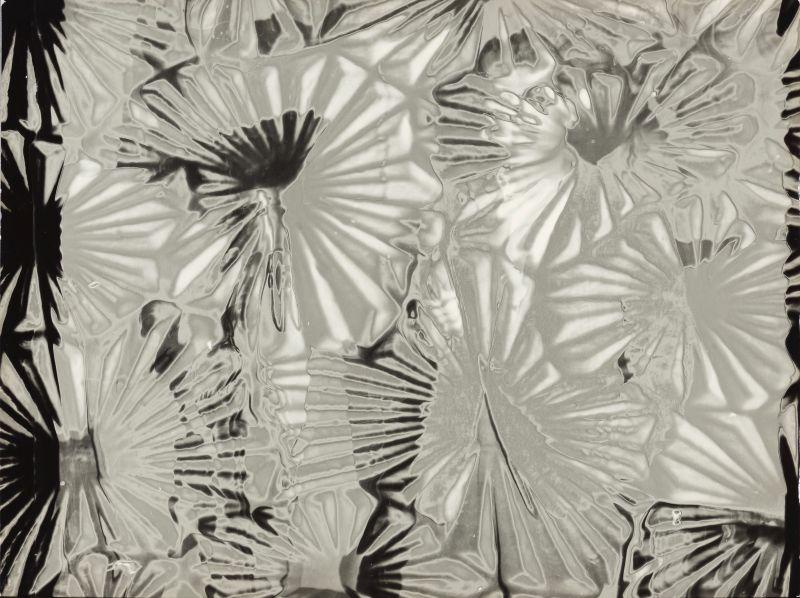 Běla Kolářová: Mikuláš Medek -Derealizovaný portrét, negativ Jiří Kolář, cca 1956, zvětšenina BK s použitím rastrovaného skla, 1962 Oficiální zdroj: UPM