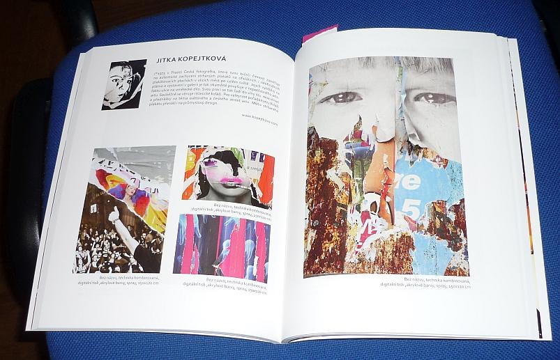 Kniha koláží Jitky Kopejtkové Foto: e-Newspeak