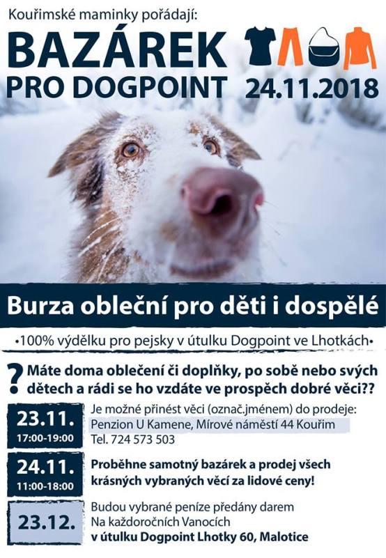Bazárek pro Dogpoint - plakát Oficiální zdroj: Dogpoint