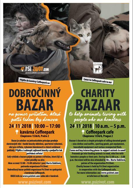 Dobročinný bazar pro zvířata bezdomovců Oficiální zdroj: Psí žovot