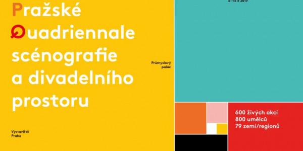 Pražské Quadriennale 2019 logo Oficiální zdroj: PQ