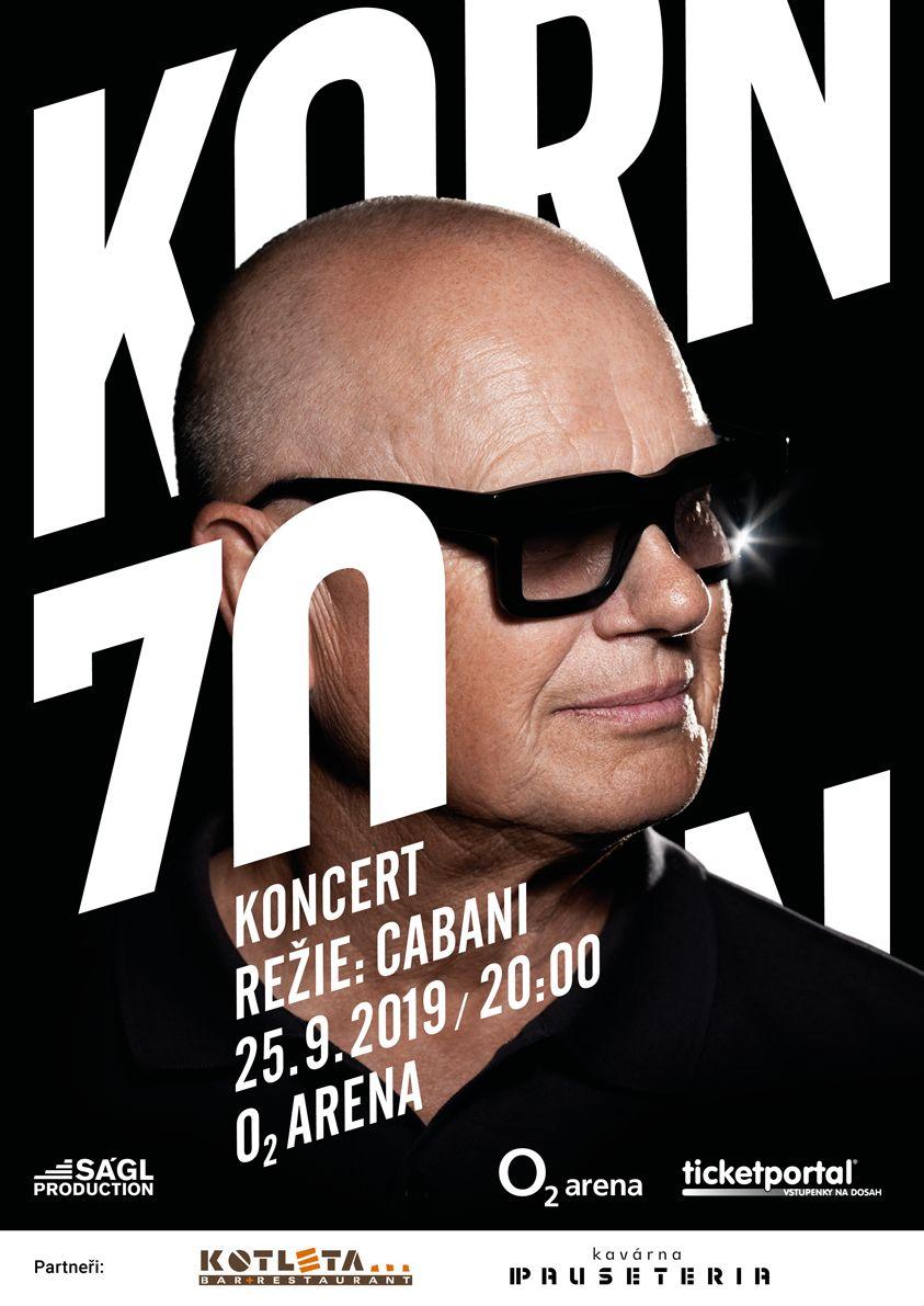 Jiří Korn 70x Dík  plakát  Oficiální zdroj: Ságl Production